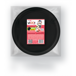 Plates, plastic black size L-20 pieces